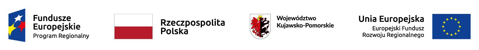 logotypy: Fundusze Europejskie Program Regionalny, Rzeczpospolita Polska, Województwo Kujawsko-Pomorskie, Unia Europejskia Europejski Fundusz Rozwoju Regionalnego