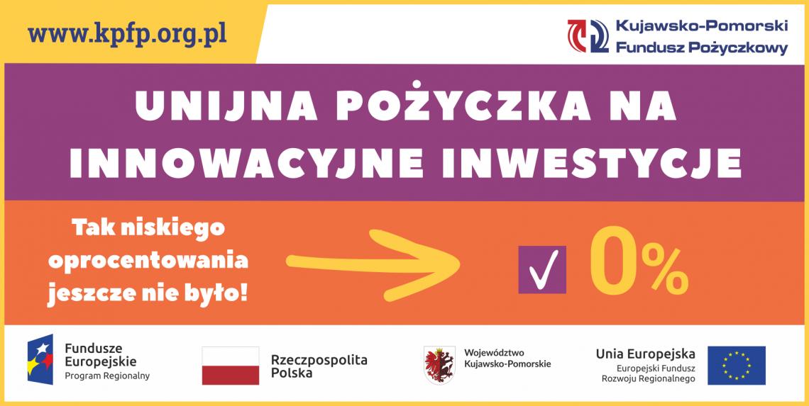 unijna pożyczka na innowacyjne inwestycje - 0%